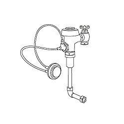 Commercial Flush Valve with ADA Compliant Hydraulic