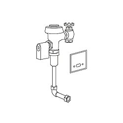 Commercial Flush Valve with Electronic Sensor Wall Supply