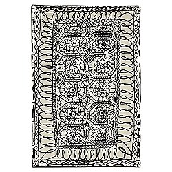 Black on White Estambul Rug
