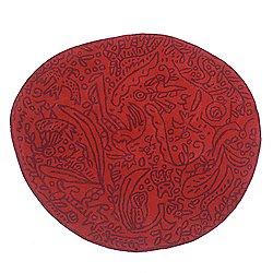Bichos y Flores Red Rug