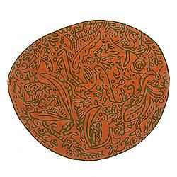 Bichos y Flores Orange Rug