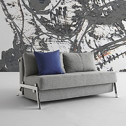 Cubed Deluxe Sofa, Chrome Base