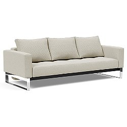 Cassius Quilt Sofa, Chrome Base