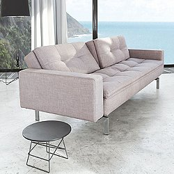 Dublexo Deluxe Sofa with Arms, Metal Base (505 - Begum Dark Grey) - OPEN BOX RETURN