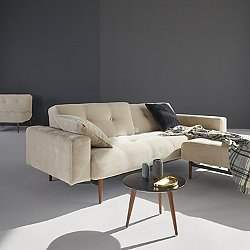 Buri Sofa with Arms, Dark Wood Base