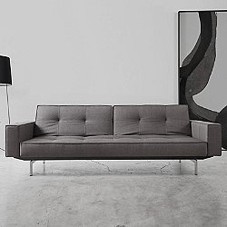 Buri Sofa with Arms, Metal Base