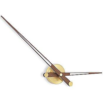 Polished Brass with Walnut finish