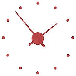 OJ Wall Clock by Nomon (Red/32 Inch) - OPEN BOX RETURN