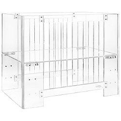 Vetro Mini Crib in Clear Acrylic