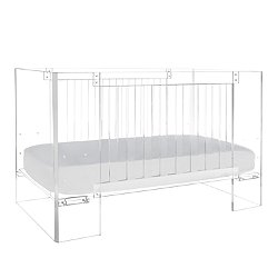 Vetro Crib in Clear Acrylic