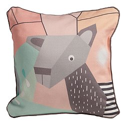 Menagerie Deer Cubist Print Toddler Pillow