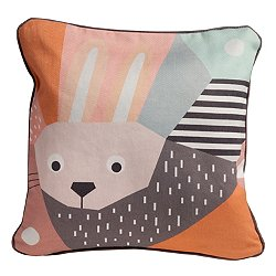 Menagerie Rabbit Cubist Print Toddler Pillow