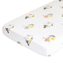 Menagerie Organic Cotton Percale Crib Sheet