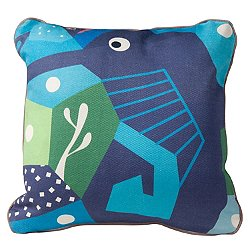 Oceanography Seahorse Cubist Print Toddler Pillow
