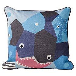 Oceanography Shark Cubist Print Toddler Pillow