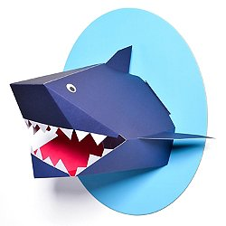 Oceanography Xander the Shark Paper Bust