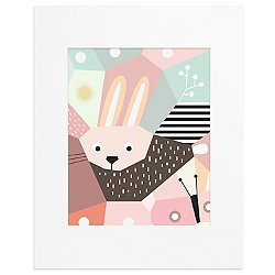 Menagerie Cubist Art Print-Rabbit