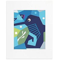Oceanography Cubist Art Print-Seahorse