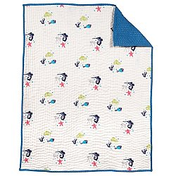 Oceanography Hand-Quilted Baby Blanket
