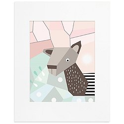 Menagerie Cubist Art Print-Deer