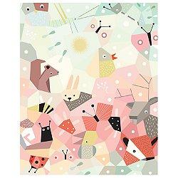 Menagerie Cubist Art Print 16 x 20