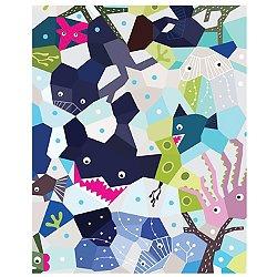 Oceanography Cubist Art Print 16 x 20