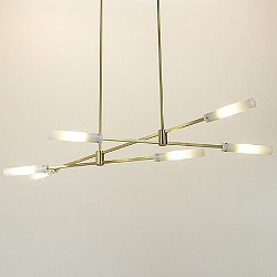 Flute Endless Horizontal Wand LED Multi-Light Pendant Light