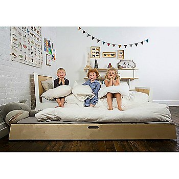 Sparrow Trundle Bed with Sparrow Twin Bed and Mini Library Bookshelf