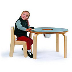Woody Chalkboard Table - Black