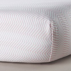 Zig Zag Blush Crib Sheet