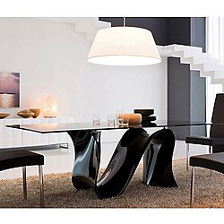 Wave 70-Inch Glass Table