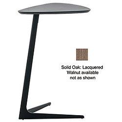 Celine Side Table (Large / 25.5-IN High/Matte: Black/Solid Oak: Lacquered Walnut) - OPEN BOX