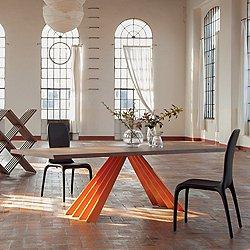 Ventaglio Wood Table, 118-IN