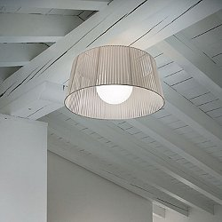 Ribbon Semi-Flush Mount Ceiling Light