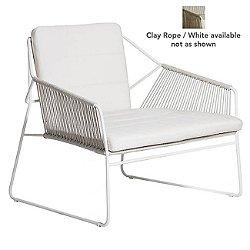 SANDUR Club Chair Full Woven(Canvas/Clay/White)-OPEN BOX
