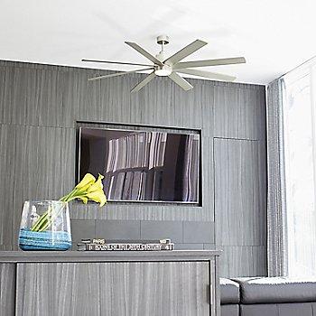 Satin Nickel finish / in use in room / illuminated