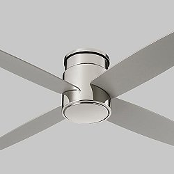 Oslo Flush Mount Ceiling Fan (Polished Nickel) - OPEN BOX RETURN