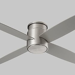 Oslo Flushmount Ceiling Fan (Satin Nickel) - OPEN BOX RETURN