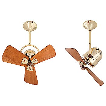 Wood Blades with Polished Brass finish