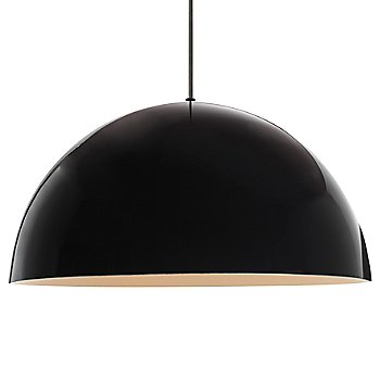 Shown in High Gloss Black with White Inside shade
