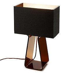 Tube Top Table Lamp (Charcoal & Charcoal/Small) - OPEN BOX