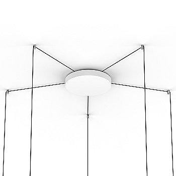 Polished Aluminum finish / 5 Light / Canopy
