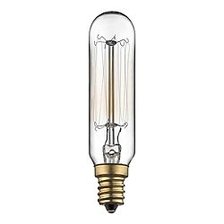 40W 120V T5 E12 Antique Candelabra Clear Bulb (2-PACK)