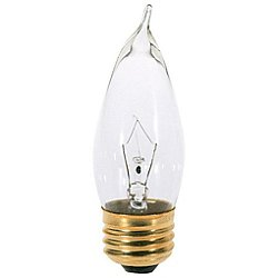 25W 120V CA10 E26 Clear Bulb (6-Pack)
