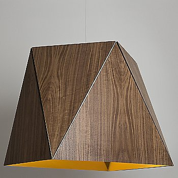 Oiled Walnut / Brushed Brass shade