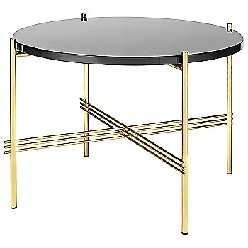 Graphite Black Glass Top finish / Brass Base finish