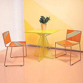 Orange finish, in use