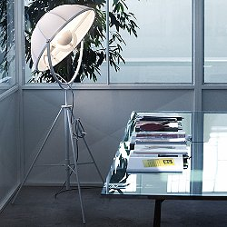 Fortuny Petite Incandescent Floor Lamp - White