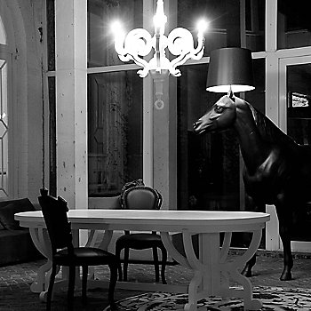 Horse Lamp, in use