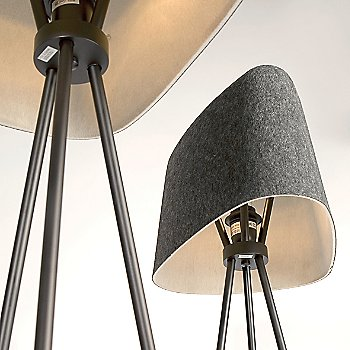 Felt Shade Floor Lamp, Detail view